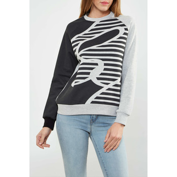 Vêtements Femme T-shirts manches longues Asap Paris Sweat Shirt  Alex W Marine Gris Femme Marine