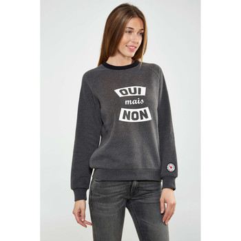 Vêtements Femme T-shirts manches longues Asap Paris Sweat Shirt  Clem W Anthracite Femme Anthracite