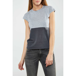 Vêtements Femme T-shirts manches courtes Asap Paris Tee Shirt  Angele Anthracite Femme Anthracite