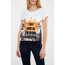 Vêtements Femme T-shirts manches courtes Minkpink Tee Shirt  Wrong Generation Blanc Femme Blanc