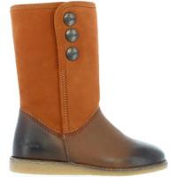 Chaussures Fille Bottes ville Kickers 440761-30 FLOBIZZ Marr?n