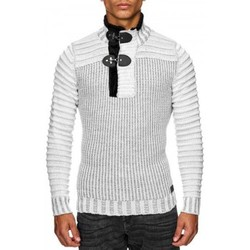 Pulls Beststyle Pull homme a col haut d hiver  blanc