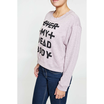 Vêtements Homme Sweats Cheap Monday Sweat  Expand Sweat Over My Synth Bod Rose Femme Rose