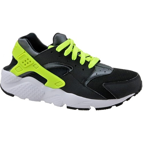 Chaussures Enfant Baskets mode Nike Huarache Run Gs 654275-017 Black,Green
