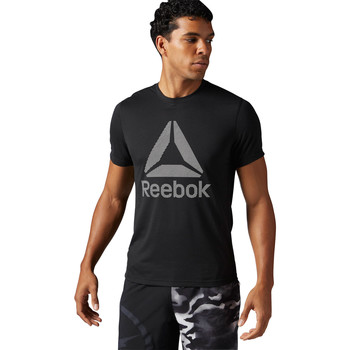 Vêtements Homme T-shirts manches courtes Reebok Sport T-shirt Workout Ready Supremium 2.0 Big Logo Noir