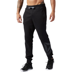 Vêtements Homme Pantalons de survêtement Reebok Sport Pantalon coton Workout Ready Big Logo Noir