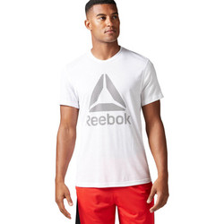 Vêtements Homme T-shirts manches courtes Reebok Sport T-shirt Workout Ready Supremium 2.0 Big Logo Blanc