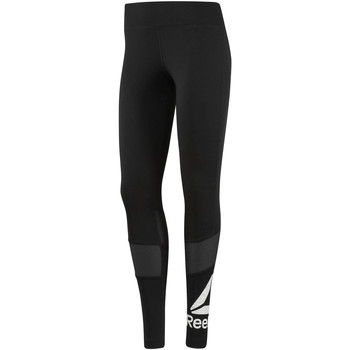 Vêtements Femme Leggings Reebok Sport Collant Workout Ready Graphic Noir / Blanc