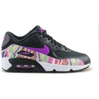 Chaussures Fille Baskets basses Nike Air Max 90 Print Mesh Junior Noir Noir/Rose
