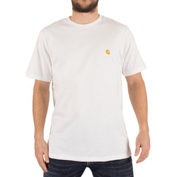 Vêtements Homme T-shirts manches courtes Carhartt Wip Homme T-Shirt Loose Fit Chase Logo, Blanc blanc