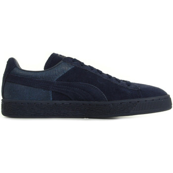 Chaussures Baskets mode Puma Suede Classic Casual Emboss bleu