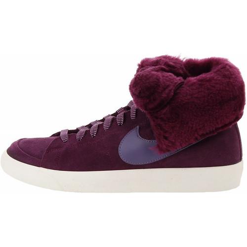 Chaussures Femme Baskets montantes Nike Blazer High Roll - Ref. 538254-600 Bordeaux