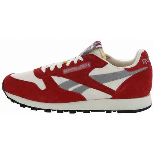 Chaussures Homme Baskets basses Reebok Sport Classic Leather Vintage - Ref. V55100 Rouge