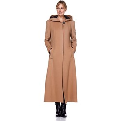 Vêtements Femme Manteaux De La Creme D`Hiver Cashmere Lans Manteaux Capauche BEIGE