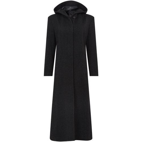 Vêtements Femme Manteaux De La Creme Manteau long d'hiver d'hiver à capuche en laine et laine Black