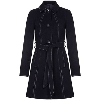 Vêtements Femme Trenchs Anastasia Anastasia Manteau Militaire Pour Femme Black