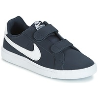 Chaussures Enfant Baskets basses Nike COURT ROYALE PRESCHOOL Bleu / Blanc