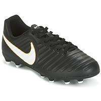 Chaussures Enfant Football Nike TIEMPO RIO IV FG JUNIOR Noir / Blanc