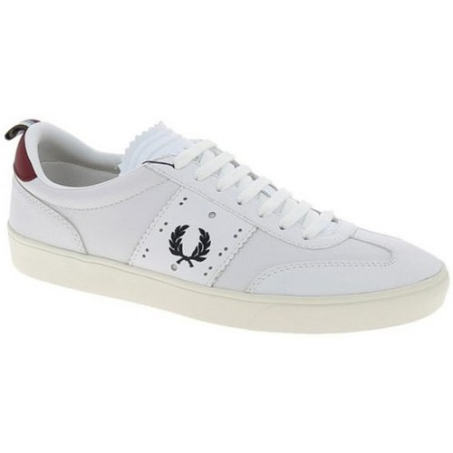 fred perry basket cuir umpire blanche blanc chaussures basket homme 109 00. Black Bedroom Furniture Sets. Home Design Ideas