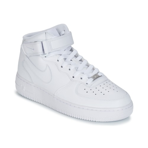 low priced fa5fd d557e Chaussures Homme Baskets montantes Nike AIR FORCE 1 MID 07 LEATHER Blanc