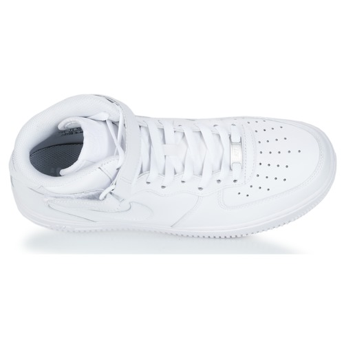 Homme Leather 1 Mid 07 Air Montantes Nike Blanc Force Chaussures Baskets fYyv6b7g