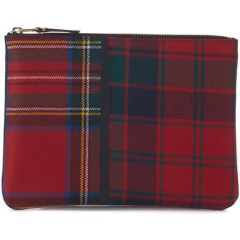 Montres & Bijoux Bijoux Comme Des Garcons Sac à enveloppe  en laine tartan patchwork rouge Rouge
