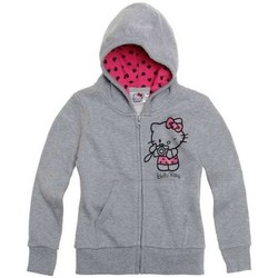Vêtements Fille Gilets / Cardigans Hello Kitty Gilet zippé gris