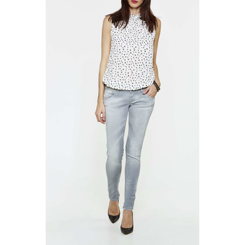 Vêtements Femme Jeans slim Meltin'pot Jeans Marcelle Shinny  Gris Gris