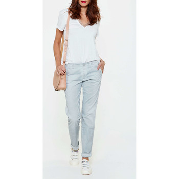 Jeans droit 7 for all Mankind Jeans Roxanne Chino  Gris Clair