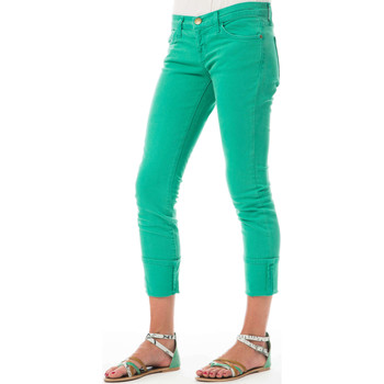 Vêtements Femme Jeans slim Current Elliott Jeans The Beatnik  Vert Vert