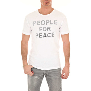 Vêtements Homme T-shirts manches courtes Wornfree Tee Shirt Mc People For Peace  Blanc Blanc