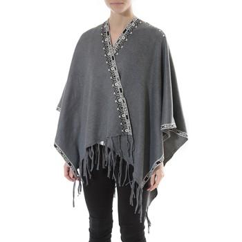 Vêtements Femme Pulls De Fil En Aiguille Poncho Senes  Anthracite  YM 121 Gris