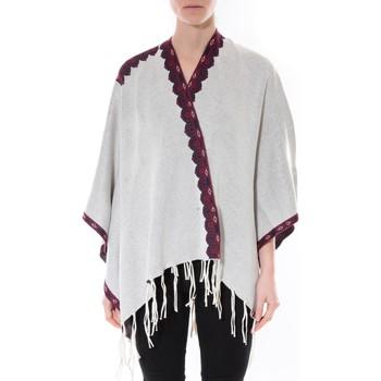 Vêtements Femme Pulls De Fil En Aiguille Poncho Senes  Beige  YM 121 Beige