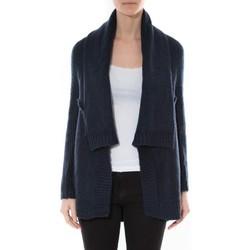 Vêtements Femme Pulls De Fil En Aiguille Gilet F de la passion 1470 Navy Bleu