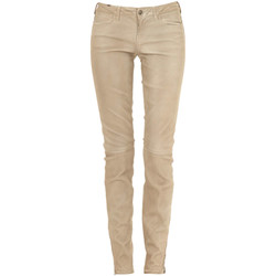 Vêtements Femme Chinos / Carrots Notify Pantalon Cuir Bamboo  Beige Beige