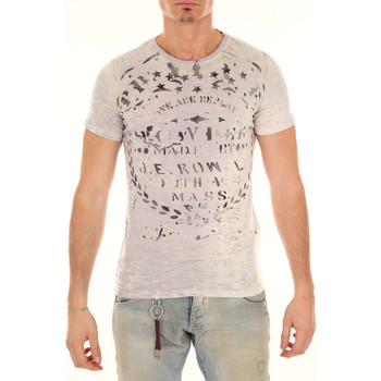 Vêtements Homme T-shirts manches courtes We Are Replay Tee Shirt Mc  Gris Ecru Gris