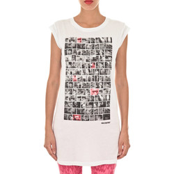 Vêtements Femme T-shirts manches courtes Meltin'pot Tee Shirt Mc Alexane  Blanc Blanc