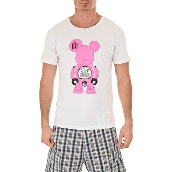 Vêtements Homme T-shirts manches courtes Art Toy Tee Shirt Mc G Bear Artoy Blanc Fluo Rose Blanc