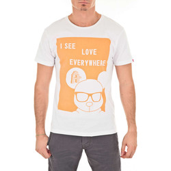 Vêtements Homme T-shirts manches courtes Art Toy Tee Shirt Mc I See Love Artoy Orange Blanc