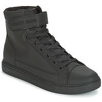 Chaussures Homme Baskets montantes Armani jeans JEFEM Noir
