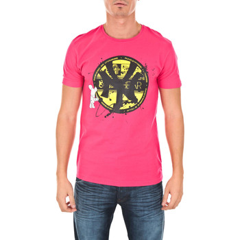 Vêtements Homme T-shirts manches courtes Art Toy Tee Shirt Mc Teams Ny Artoy Fushia Rose