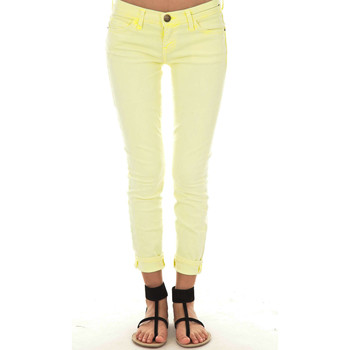 Vêtements Femme Jeans slim Current Elliott Jeans The Stiletto  Jaune Jaune