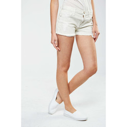 Vêtements Femme Shorts / Bermudas Current Elliott Short The Boyfriend  Blanc Bleu Blanc