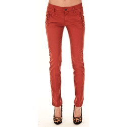 Vêtements Femme Chinos / Carrots 7 for all Mankind Pantalon Chino Low Waist  Rouille Orange