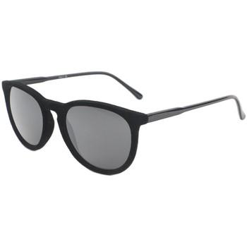Montres & Bijoux Homme Lunettes de soleil Eye Wear Lunettes de soleil en velours noir Funky Noir