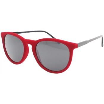 Montres & Bijoux Homme Lunettes de soleil Eye Wear Lunettes de soleil en velours Rouge Funky Rouge