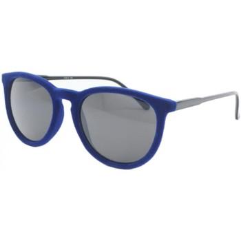 Montres & Bijoux Homme Lunettes de soleil Eye Wear Lunettes de soleil en velours Bleu Funky Bleu
