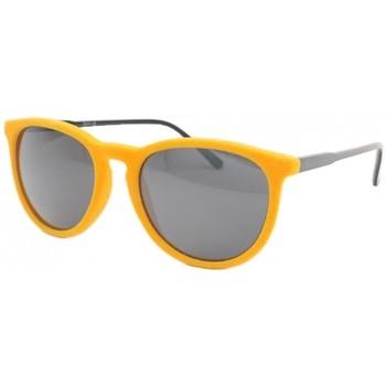 Montres & Bijoux Homme Lunettes de soleil Eye Wear Lunettes de soleil en velours Jaune Funky Jaune