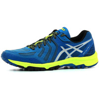 Chaussures Homme Running / trail Asics Gel Fujiattack 5 Thunder Blue / Silver / Safety Yellow