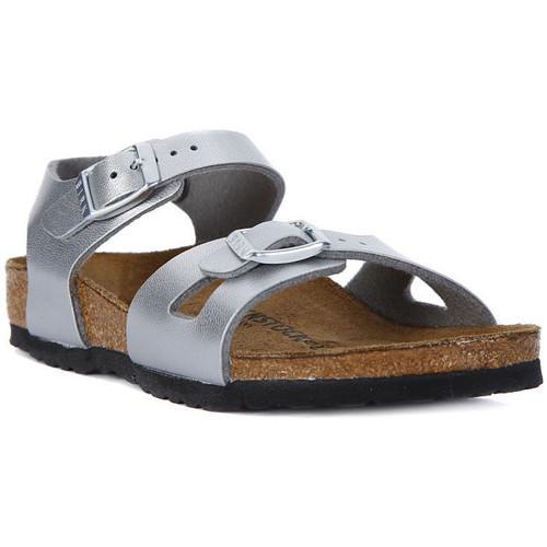 Chaussures Femme Sandales et Nu-pieds Birkenstock RIO SILVER Argento